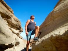 Arno exploring Death Valley