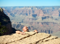 Me having fun at the Grand Canyon