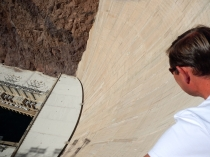 Arno looking over the edge at Hoover Dam