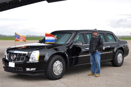 "Jim, standing next to the ""Beast"" (President Obama's Limo)"