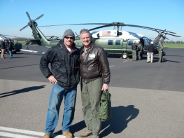Me and Colonel John McDevitt, after HMX-1 Rehearsal Flight