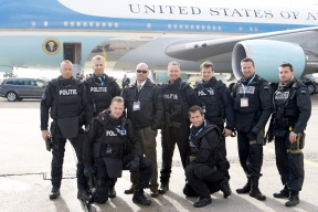 Me and Dutch SWAT Team in front of Air Force One