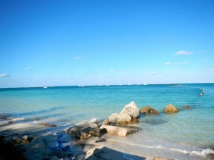 One of the beaches here on base at AUTEC, Andros, Bahamas.